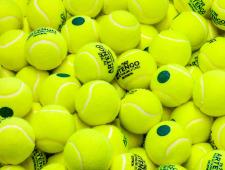 Die Abbildung zeigt Tennisbälle