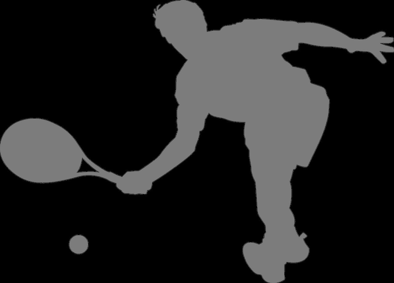Die Abbildung zeigt einen Tennisspieler